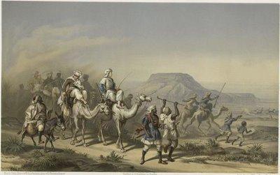 Karane des Freiherrn Adalbert von Barnim Inderwuste des Batn - el -Hágar. [Nubien.]