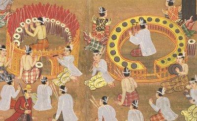 Burmese drummers detail