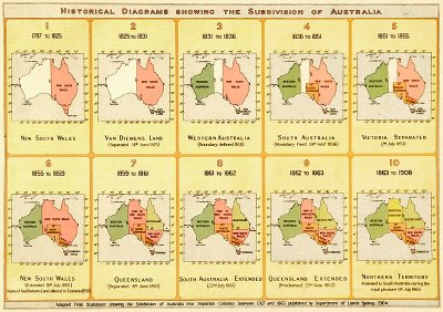 historical maps of australian states