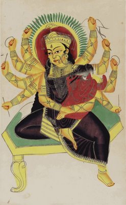 Pavarti (10-armed) nursing Ganesha