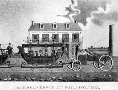 Railroad Depot at Philadelphia 1832