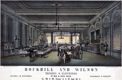 Rockhill & Wilson, tailors & clothiers of men & boys wear 1857
