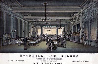 Rockhill & Wilson, tailors & clothiers of men & boys wear 1857