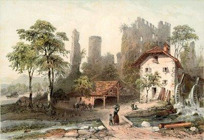 Ruines du Château de La Rochette, à Lully, près de Thonon
