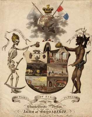 napoleon satire devil coat of arms