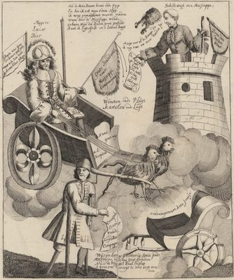 inventor of stock-jobbery in his triumphal car