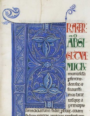 monochromatic illuminated letter