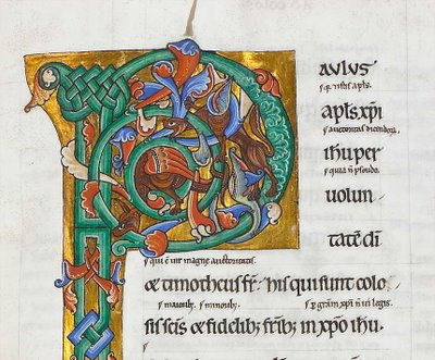 illuminated letter P