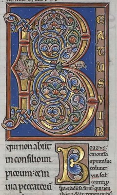 illuminated letter B
