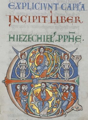Illuminated Initiale du Livre d'Ezéchiel