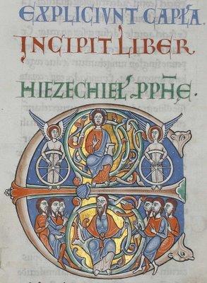Illuminated Initiale du Livre d'Ezéchiel