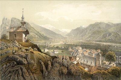 Vallée de Samoëns (Vue prise de la chapelle du Château)