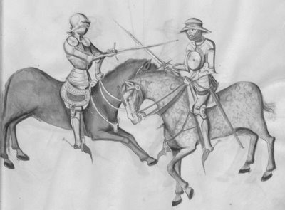 sword fight on horseback