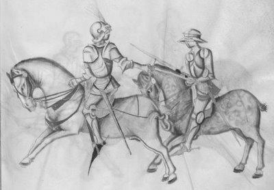 sword fight on horseback: more technique