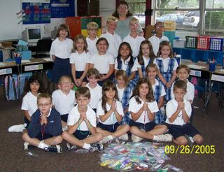 St. Bede Second Graders Make Rosaries for Hurricane Victims 2
