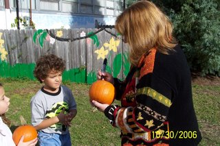 Students Wander Through the Pumpkin Patch at St. Bede 1