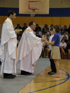 Middle & High School Students Celebrate All Saints Day, Remembering Fr. Labadie 1