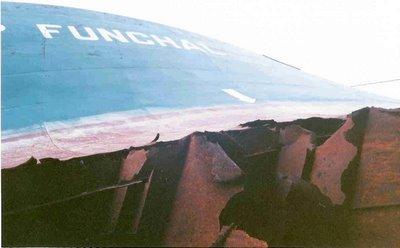 11 meetri kõrgune auk tankeri pardas.