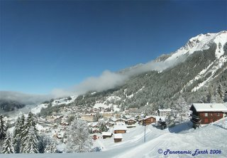Image of Aproach to Wengen from Ski run