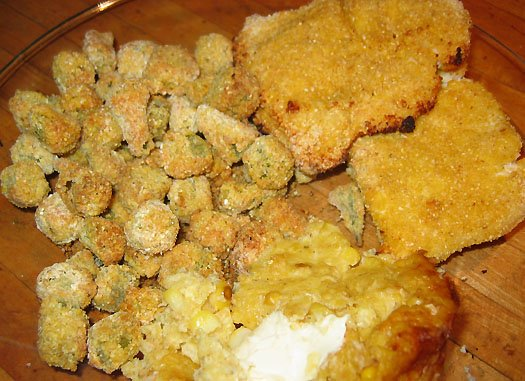 What 39 s cooking in carolina okra for Cornmeal fried fish