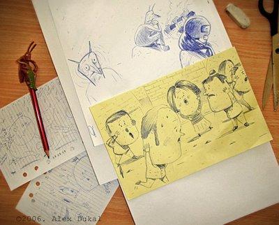 Alex Dukal Bocetos 1