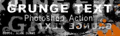 Alex Dukal Grunge Text Action