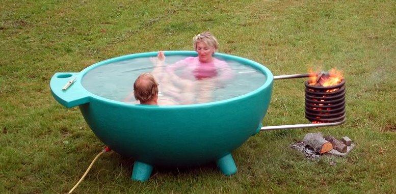 Горячая вода в саду