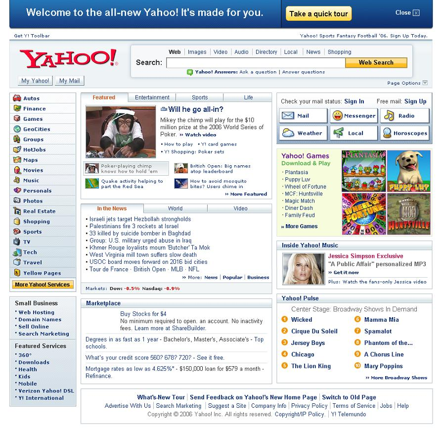 Yahoo com home page - What The Hell Was Yahoo Thinking When They Redesigned Their Homepage Multiple Links On Their Homepage Leading To The Same Content Like The Multiple Links