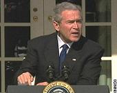 Bush: The truthiness of the matter is I'm the decider, and I decide what is best for this country. God spoke to me!