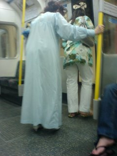 Night gown on the Tube
