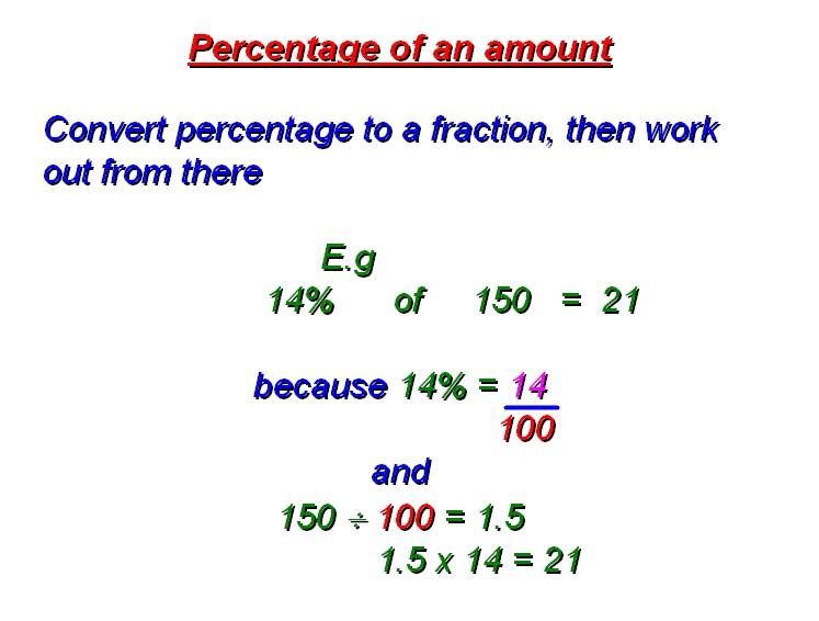 Percentages homework help