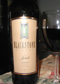 A cool little Syrah by Blackstone