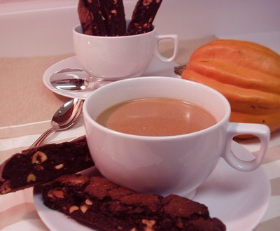 Chocolate-Orange Biscotti & Masala Chai