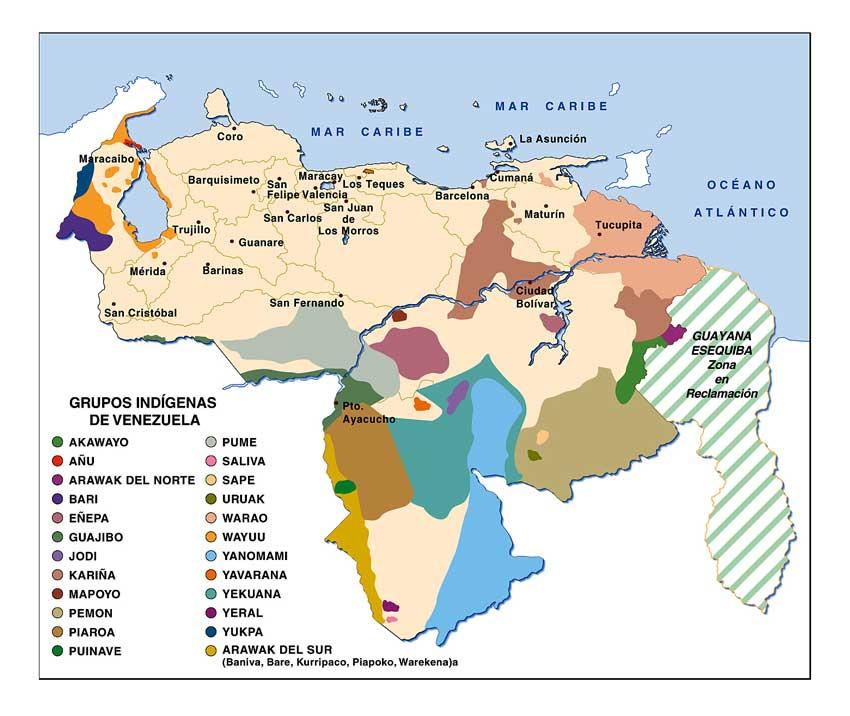 Interculturalidad en Salud: Mapa Indígena de Venezuela