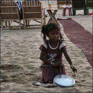 Katumuusikko Goan rannalla