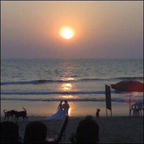 Vihkivala Goan rannalla