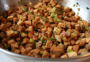 Whole Wheat Stuffing with Sage, Italian Sausage, and Pears ...