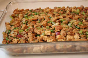 ... South Beach Friendly Whole Wheat Stuffing with Sage, Italian Sausage