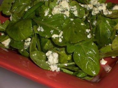 Kalyn's Kitchen: Recipe for Arugula and Gorgonzola Salad with Balsamic Vinegar