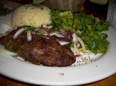 Kafta Kabob Plate In House Cafe