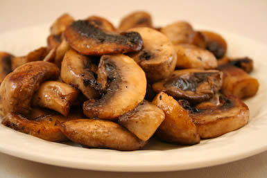 Original Photo Super Easy Grilled Mushrooms from KalynsKitchen.com