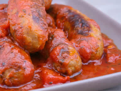 Turkey Italian Sausage with Tomato Sauce