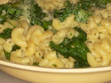 Original photo Macaroni with Greens, Lemon, and Parmesan found on KalynsKitchen.com