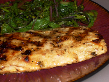 Kalyn's Kitchen: Grilled Mahi Mahi with Lemon and Capers