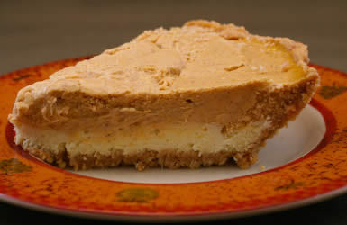 Low Sugar Pumpkin Cheesecake