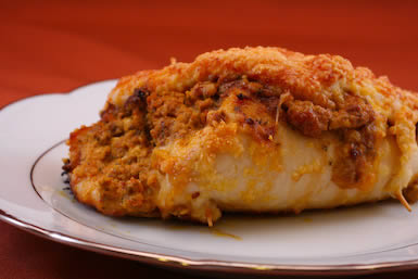 Recipe for Baked Chicken Stuffed with Sun-Dried Tomato Pesto, Basil ...