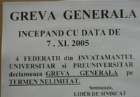 greva gerenerala a sindicatelor din invatamant