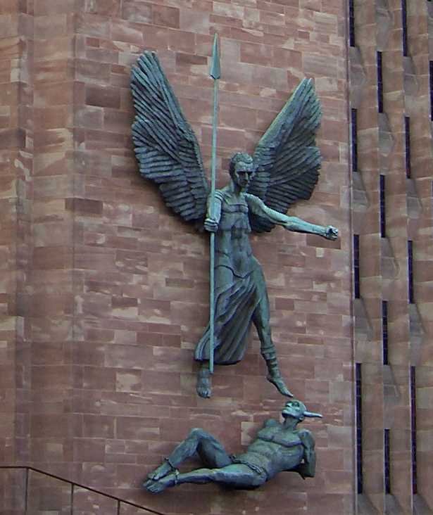 Image result for coventry cathedral st michael and the devil