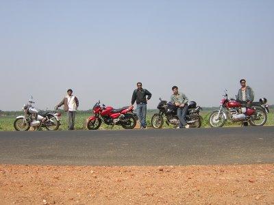 L to R: Me, Sachin, Rana and Girish