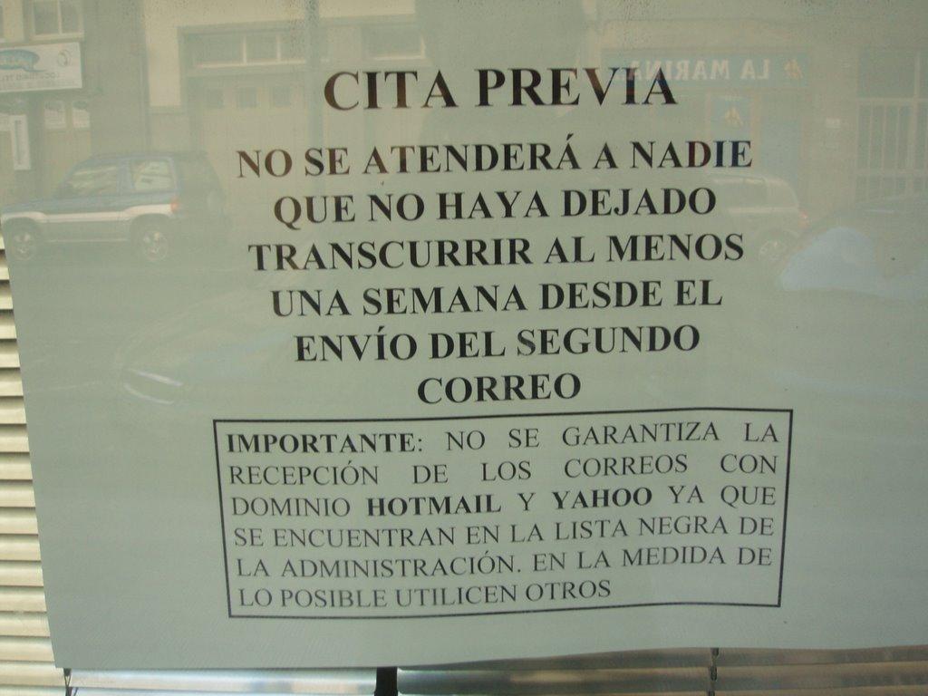 Inmigraci n una oportunidad cita previa para extranjeria for Oficina desempleo cita previa